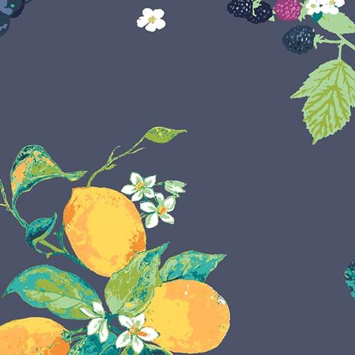 Art Gallery Jersey Dress Fabric - Frutteria Bleu Knit