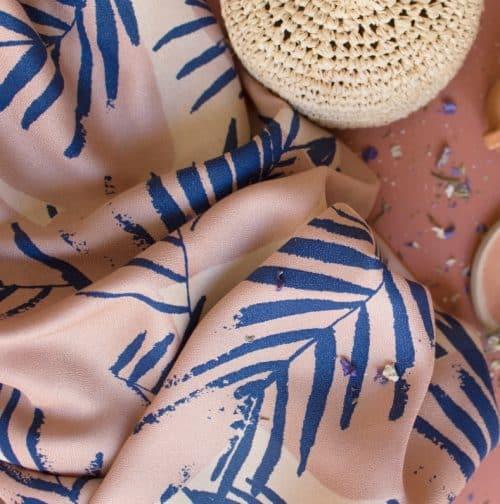 Canopy Cobalt Viscose Dress Fabric by Atelier Brunette