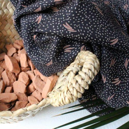 Dune Night Viscose Dress Fabric by Atelier Brunette