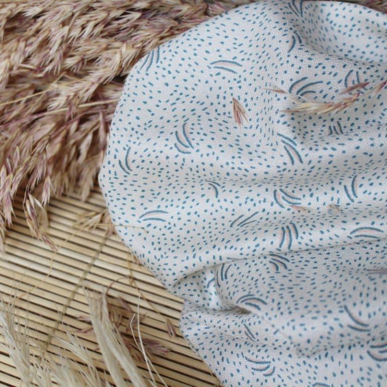 Atelier Brunette Dune Off White Viscose Crepe Dress Fabric