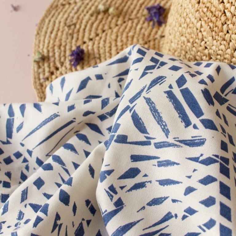 Shade Cobalt Viscose Dress Fabric by Atelier Brunette