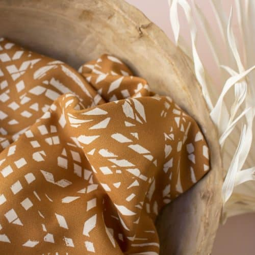 Shade Ochre Viscose Dress Fabric by Atelier Brunette