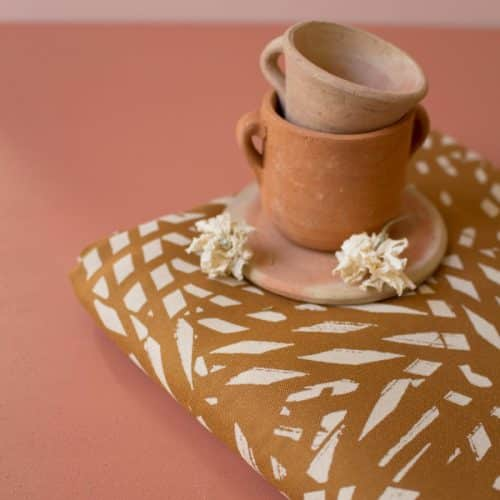 Shade Ochre Viscose Dress Fabric by Atelier Brunette