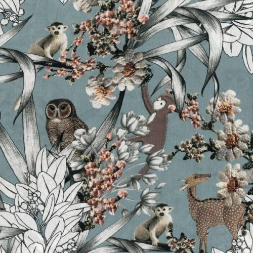 Organic Cotton Lawn Dress Fabric - Mari