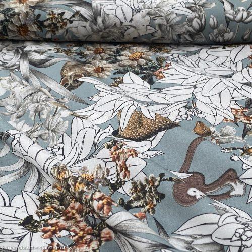 Organic Cotton Lawn Dress Fabric - Mari