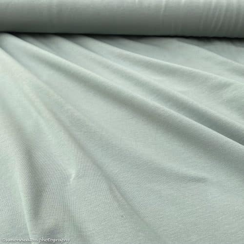 Organic French Terry Fabric- Dusty Mint