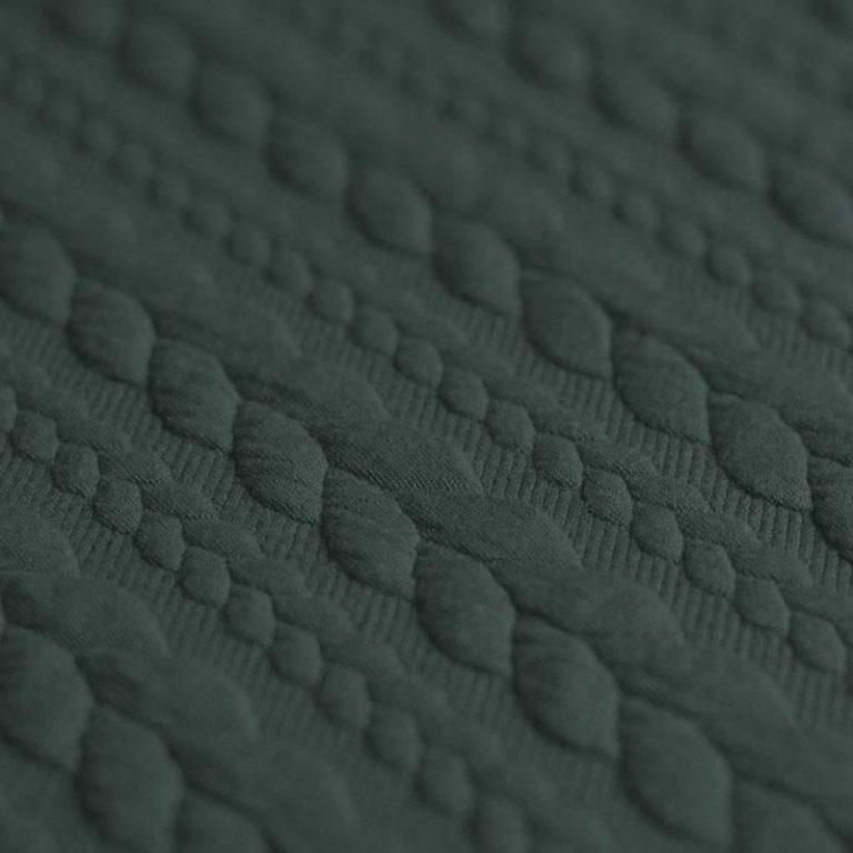 khaki green cable knit jersey fabric