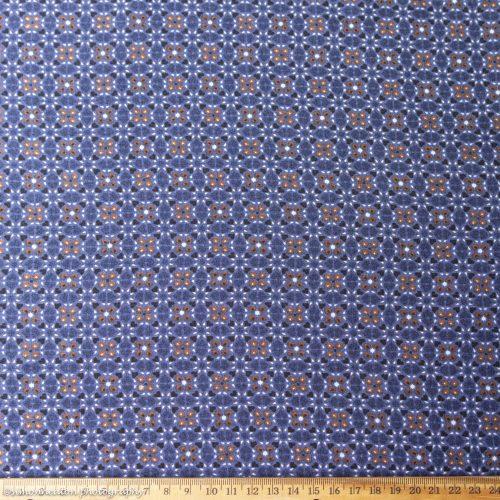 Viscose Dress Fabric Moroccan Blue Tiles