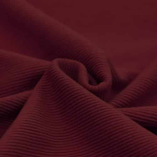 Soft Rib Dress Fabric Bordeaux