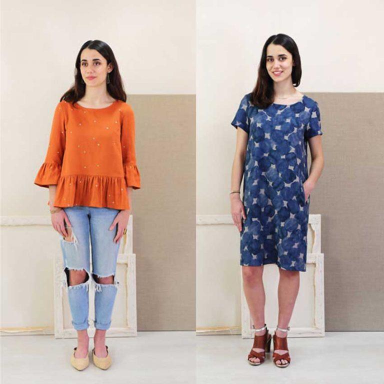 Liesl & Co Gelato Blouse and Dress Sewing Pattern