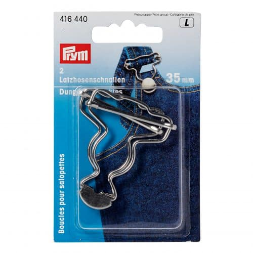 Prym - Dungarees buckles, Silver 35mm