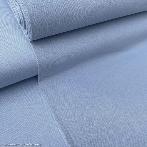 Organic French Terry Fabric- Dusty Blue