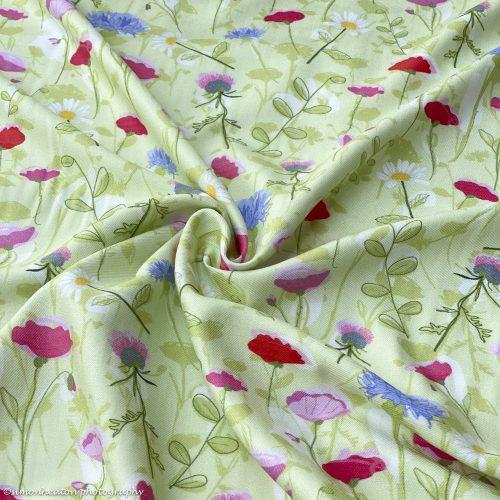 Viscose Twill Dress Fabric - Rosella Meadow