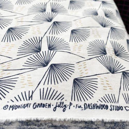Midnight Garden Abstract- Dashwood Linen Cotton Dress Fabric