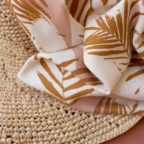 Canopy Ochre Viscose Dress Fabric by Atelier Brunette