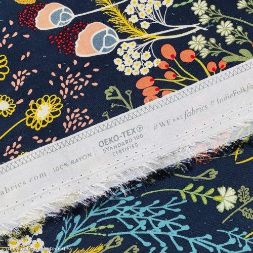 Art Gallery Rayon - Meadow Dim Rayon Dress Fabric