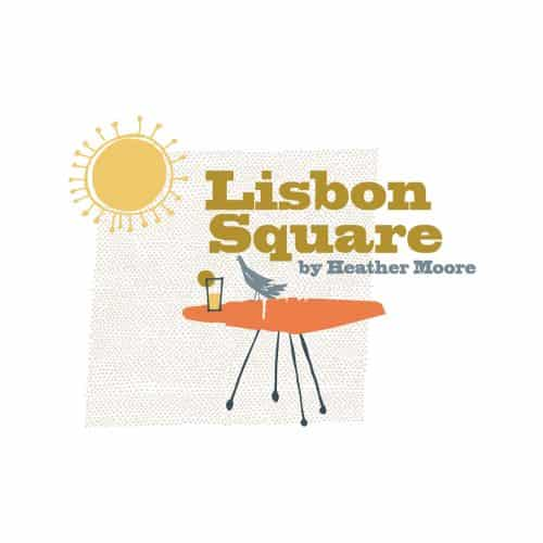 Lisbon Square Organic Cotton Fabric- Rise Up