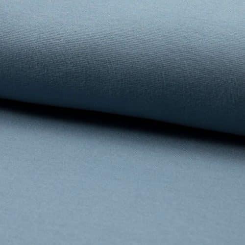 Organic Cotton Rib Cuff Fabric- Dusty Blue