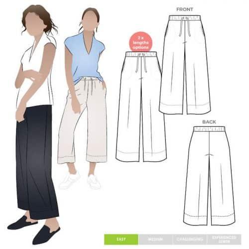 Como Knit Pant Style Arc Pattern