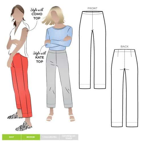 Cheryl Stretch Woven Pant - Style Arc Patterns