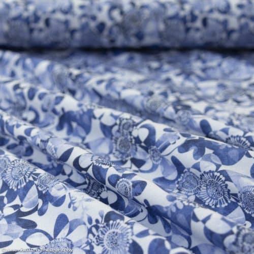 Organic Cotton Jersey Dress Fabric- Lilleblu