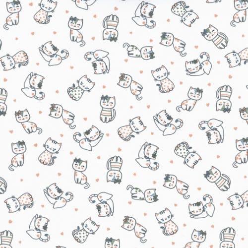 NEW Cotton Jersey Dress Fabric- Kittens