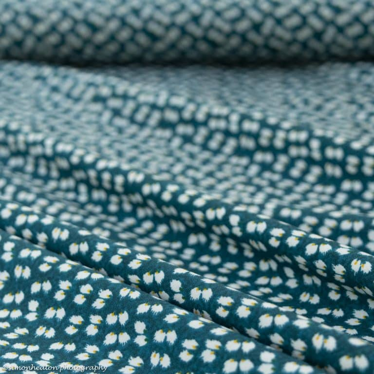 peacock petals viscose fabric