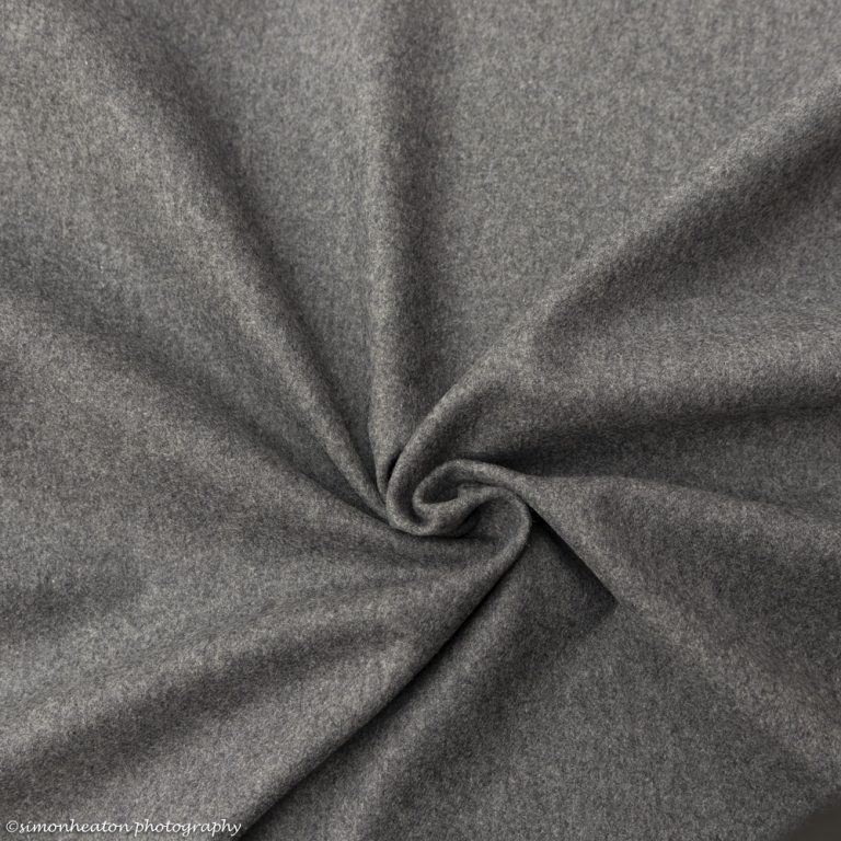 Woven Wool Blend Fabric in Grey