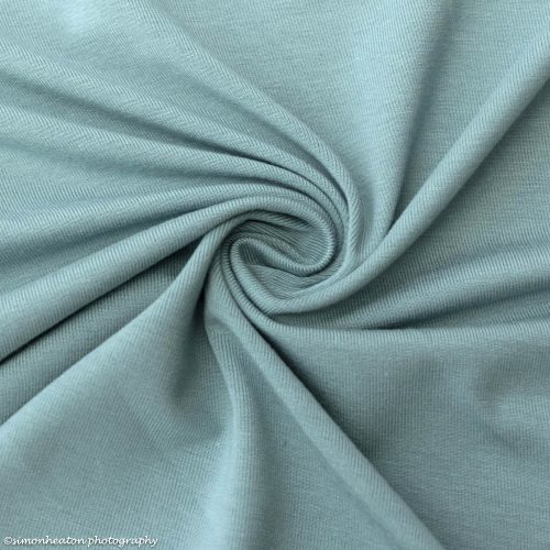 bamboo jersey fabric with organic cotton mineral blue