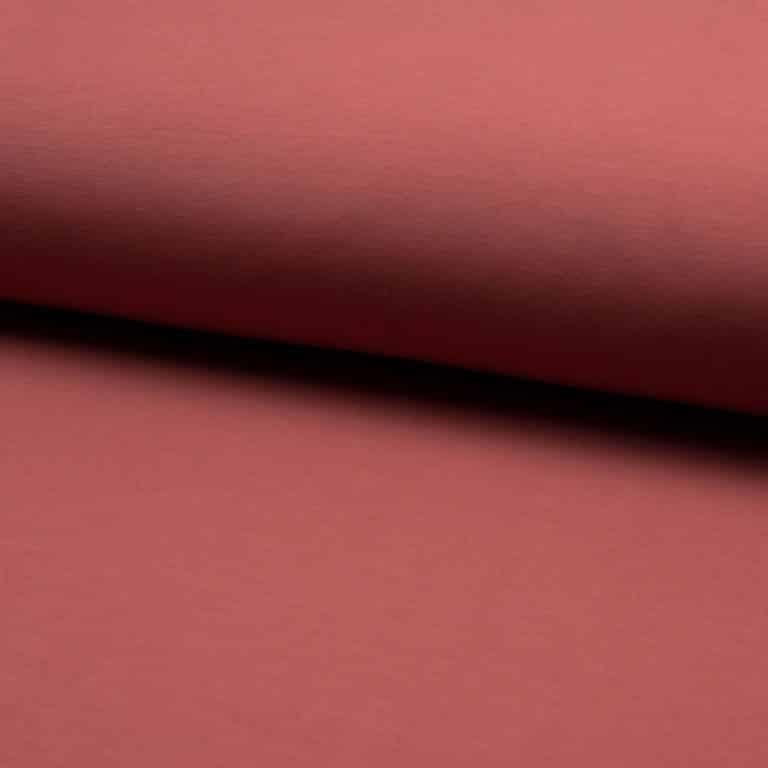 Organic Cotton Rib Cuff Jersey- Terracotta
