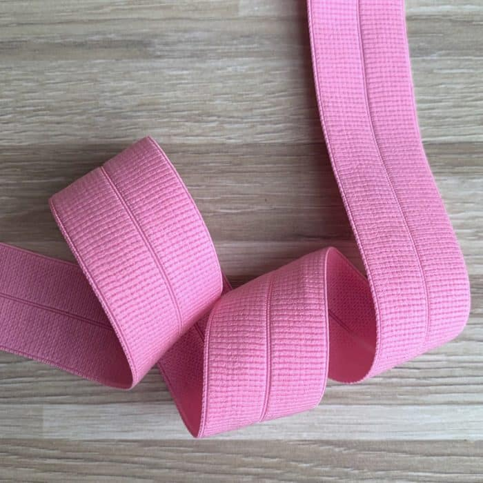 24mm Fold-Over Elastic - Light Pink