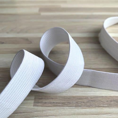 White Elastic 20mm