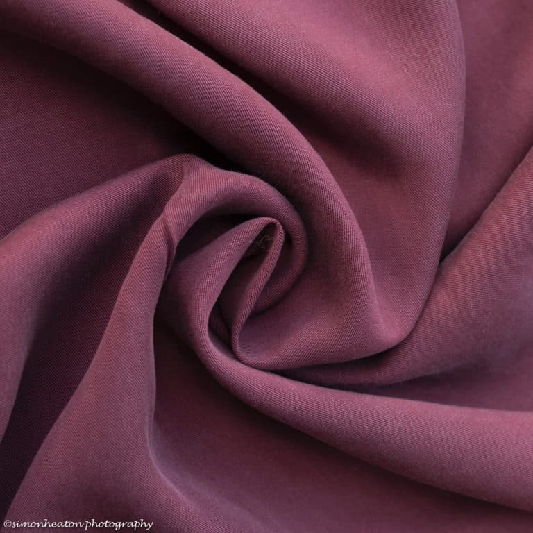 Burgundy Tencel Twill Dress Fabric UK
