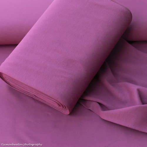 Organic Cotton Rib Cuff Fabric- raspberry