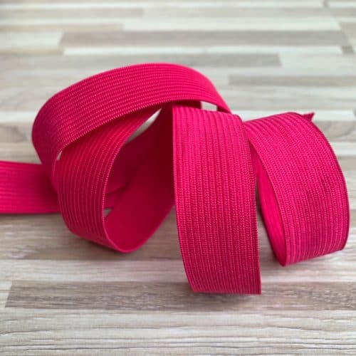 cerise coloured elastic