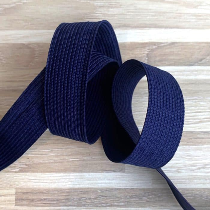 Coloured Elastic 20mm - Navy