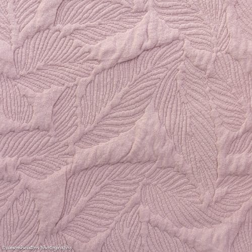 Quilted Dress Fabric - Dusty Pink Feathers