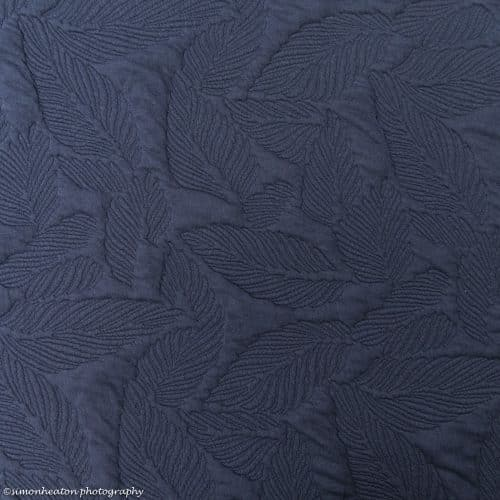 navy quilted feathers