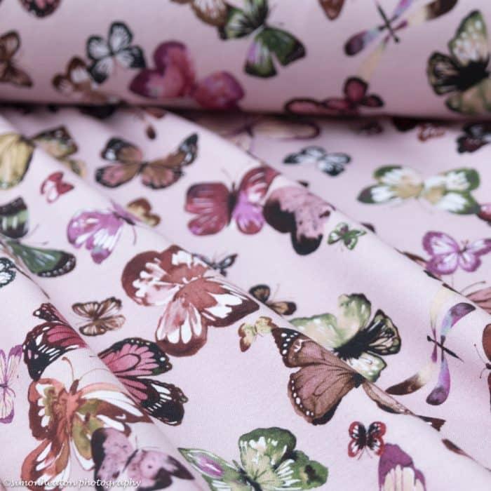 butterflies pink organic