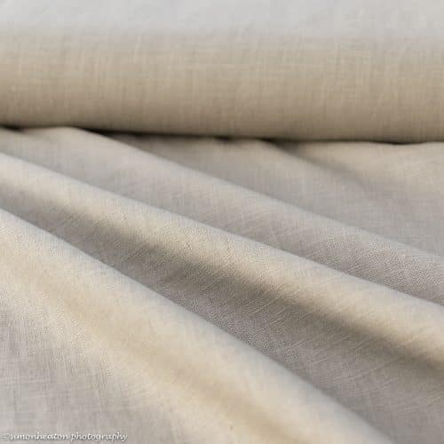 bio linen taupe dress fabric