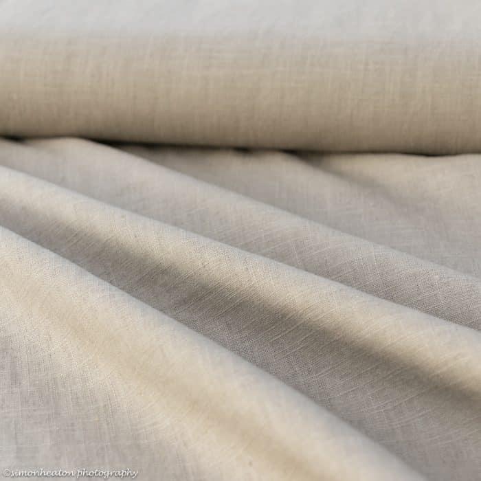 bio linen taupe dress fabric