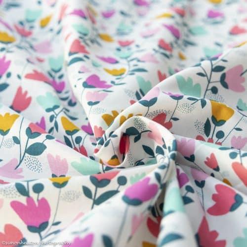 cotton candy floral cotton lawn