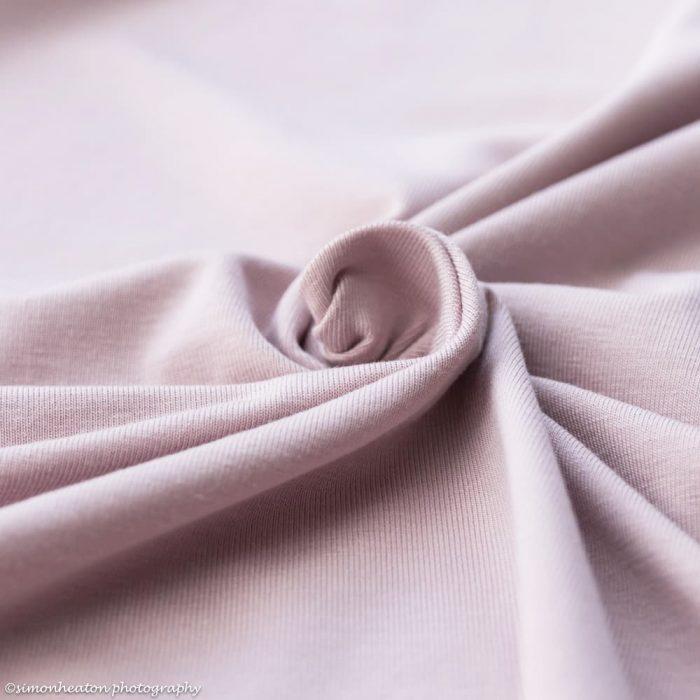 Dusty Pink Bamboo Jersey Dress Fabric