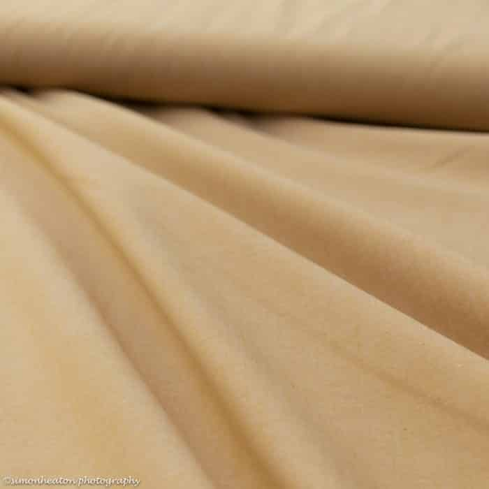 Light Ochre Chambray Cotton Fabric