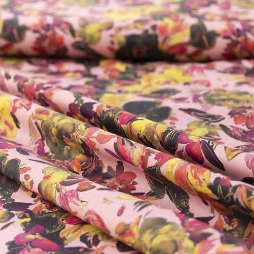 art flowers cotton poplin