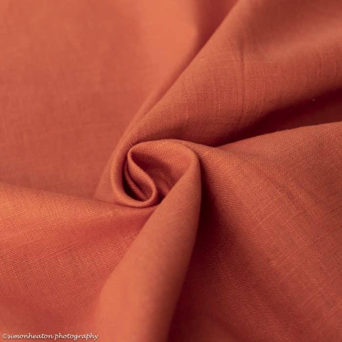 bio linen rusty orange
