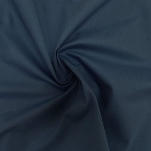 Organic Cotton Twill Dress Fabric - Teal Blue