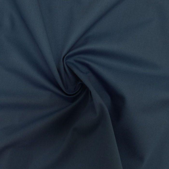 Organic Cotton Twill Dress Fabric - Teal Blue