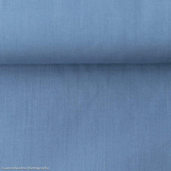 Organic Cotton Voile Dress Fabric - Blue