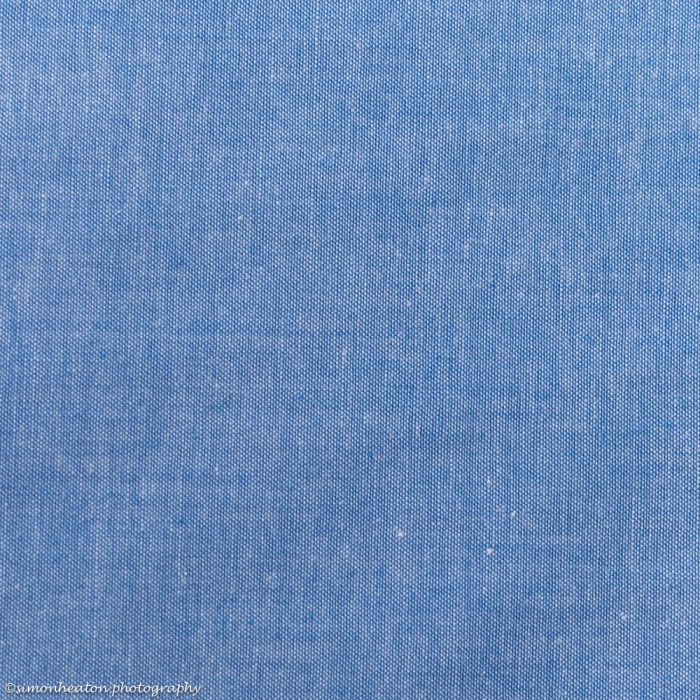 Cotton Chambray Poplin Dress Fabric - Blue